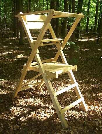 ansitzleiter hochsitz transportable jagdeinrichtung kaufen. Black Bedroom Furniture Sets. Home Design Ideas